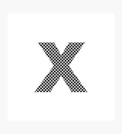 X Black Squares  Photographic Print
