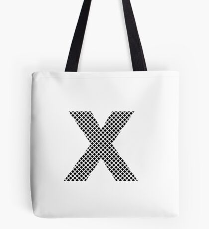 X Black Squares  Tote Bag