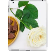 White rose with dessert iPad Case/Skin