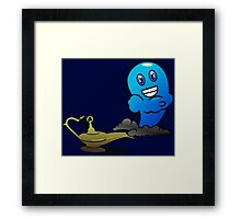 Aladins Djin out of the Oil Lamp VRS2 Framed Print