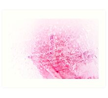 Abstract rose in ice with frozen bubbles Art Print
