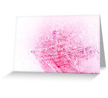 Abstract rose in ice with frozen bubbles Greeting Card