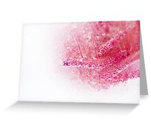 Abstract rose in ice  Greeting Card