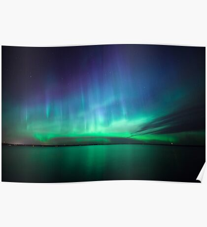 Beautiful northern lights Poster