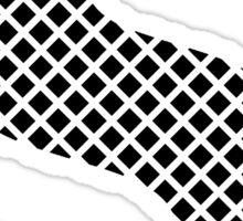 S Black Squares Sticker