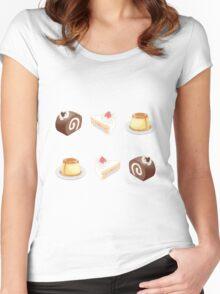 dessert set Women's Fitted Scoop T-Shirt