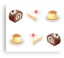 dessert set Canvas Print