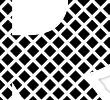 R Black Squares Sticker