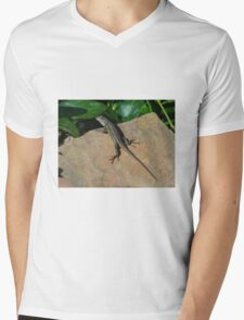 Lizard Mens V-Neck T-Shirt