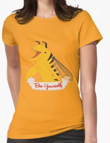 Bee Yourself Penguin Womens Fitted T-Shirt