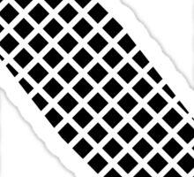 N Black Squares Sticker