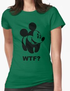 wtf ? Womens Fitted T-Shirt