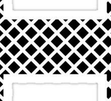 H Black Squares Sticker