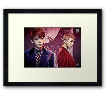 BTS/Bangtan Sonyeondan - Wings (JUNGKOOK & RM) #2 Framed Print