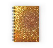 Christmas composition in gold and red colors Spiral Notebook