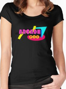 Arcade Pit Logo Women's Fitted Scoop T-Shirt