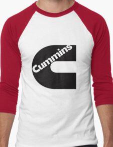Cummins Black Logo Men's Baseball ¾ T-Shirt