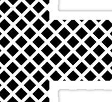 E Black Squares Sticker