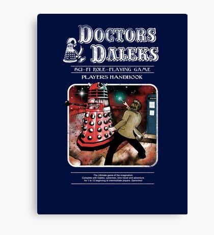 Doctors & Daleks Canvas Print