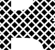 B Black Squares Sticker