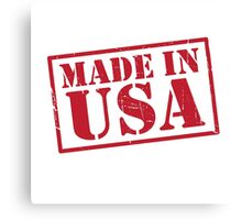 Made In The USA Red Canvas Print