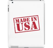 Made In The USA Red iPad Case/Skin