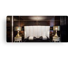 Interior bedroom dark colors Canvas Print
