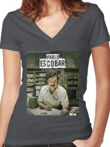 Narcos Shirt New Design Women's Fitted V-Neck T-Shirt