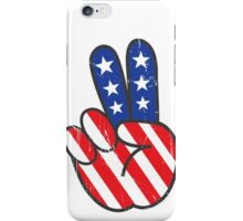 Peace Symbol and Stars and Stripes iPhone Case/Skin