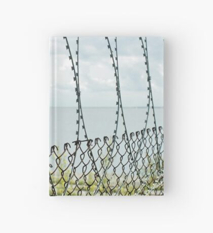Sea behind barbed wire  Hardcover Journal