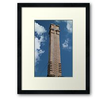 industrial chimney with a ladder Framed Print