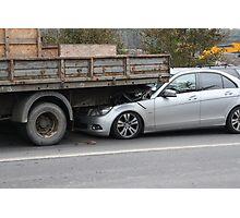 crash Mercedes car and truck Photographic Print