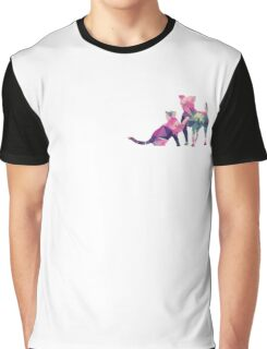 Moggy and Pooch #1. Pink&Green. Take your best friend everywhere. Graphic T-Shirt