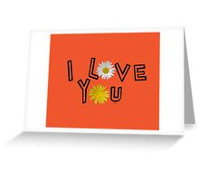 I love you in flame Greeting Card