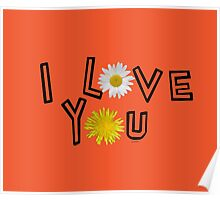 I love you in flame Poster