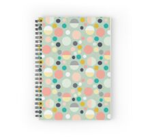 Geometric Pastel Pattern Spiral Notebook