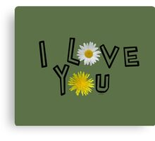 I love you in kale Canvas Print