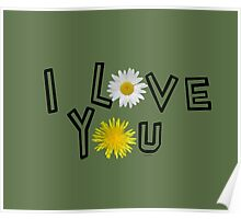 I love you in kale Poster