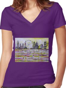 Commuter race Women's Fitted V-Neck T-Shirt