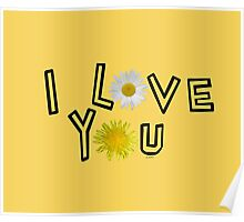 I love you in primerose yellow Poster