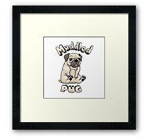 Muddled Pug Framed Print
