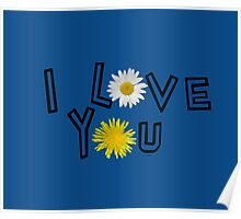 I love you in lapis blue Poster