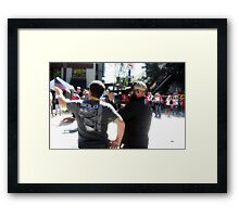 The Production Crew  Framed Print