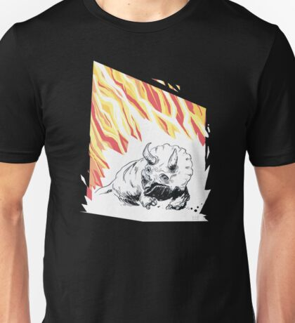 Bad day for triceratops. Unisex T-Shirt