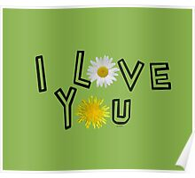 I love you in greenery Poster