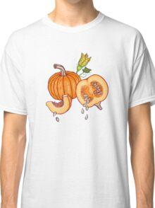 Pumpkin night life pattern Classic T-Shirt