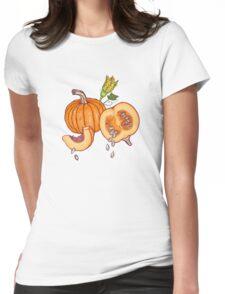 Pumpkin night life pattern Womens Fitted T-Shirt