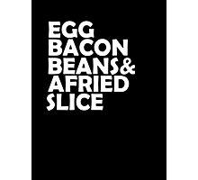 Egg Bacon beans Photographic Print