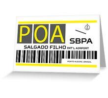 Destination Porto Alegre Airport Greeting Card