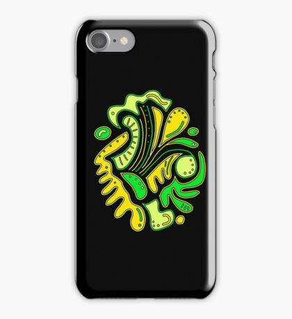 Green and yellow abstract spot iPhone Case/Skin